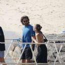 Sofia Richie in Bikini Top on a speedboat in Mykonos