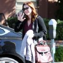 Alyson Hannigan: visit a doctors office in Santa Monica