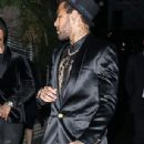 Neymar smoulders in a sleek black blazer, matching shorts and a gold-embellished shirt as he launches new Diesel fragrance - 306 x 709