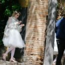 Eiza Gonzalez and Emma Roberts – On the set of 'Paradise Hills' in Barcelona