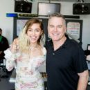 Miley Cyrus – Visiting 104.3 MYfm studios in Los Angeles