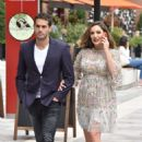 Kelly Brook and Jeremy Parisi out in London