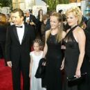 Melanie Griffith, Antonio Banderas, Dakota Johnson and Stella Banderas - The 61st Annual Golden Globe Awards - Jan. 2004