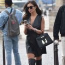 Amy Jackson in Mini Dress – Out in Paris - 454 x 686