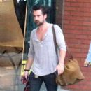 Colin Farrell Leaves a Yoga Class