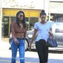 Chanel Iman out and about in Beverly Hills Ca