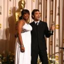Javier Bardem and Jennifer Hudson At The 80th Annual Academy Awards (2008)