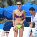Julie Henderson Wearing Bikini On Miami Beach