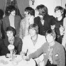 Cilla Black , Georges Harrison, Paul McCartney, John Lennon, Ringo Starr and Brian Jones