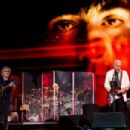 Roger Daltry and Pete Townshend of The Who performs on the Pyramid Stage at the Glastonbury Festival at Worthy Farm, Pilton on June 28, 2015 in Glastonbury, England.