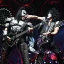 Paul Stanley of KISS performs during their End Of The Road World Tour at The Forum on February 16, 2019 in Inglewood, California - 454 x 403