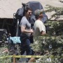 Tom Cruise spending time with his son Connor on the set of his new film