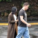 Channing Tatum out with his wife Jenna Dewan Tatum in Studio City, California on January 10, 2017
