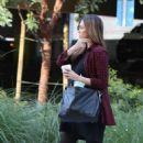 Jessica Alba in Black Mini Dress – Out in Beverly Hills