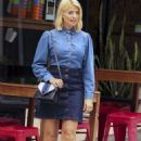 Holly Willoughby in Jeans Skirt – Out in Sydney - 454 x 673
