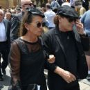 Brian Johnson and Brenda Johnson at the funeral service for AC/DC co-founder Malcolm Young at St Mary's Cathedral on November 28, 2017 in Sydney, Australia - 454 x 316