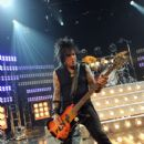 Musician Nikki Sixx of Sixx A.M. performs for iHeartRadio Live at The iHeartRadio Theater Los Angeles on October 7, 2014 in Burbank, California
