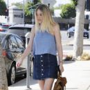 'Please Stand By' actress Dakota Fanning is spotted out and about in Beverly Hills, California on August 17, 2015 - 454 x 578