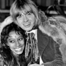 Donyale Luna and Brian Jones  during the filming of the Rolling Stones Rock & Roll Circus, December 1968 - 454 x 637