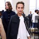 Alicia Vikander at Louis Vuitton Show – Paris Fashion Week 10/05/2016