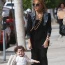 Rachel Zoe: shops on Robertson Blvd. with her son Skyler in Beverly Hills