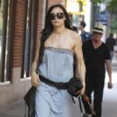 Famke Janssen Walking Her Dog In SoHo - May 26, 2010