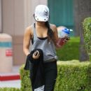 Vanessa Hudgens: getting in a morning workout in Studio City