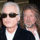 Led Zeppelin guitarist Jimmy Page and frontman Robert Plant, here attending a film premiere in 2012 Rex Features - 454 x 340