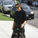 Jennifer Garner at church services in Pacific Palisades