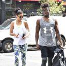 Shanina Shaik and DJ Ruckus Head To The Gym August 31, 2016