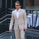Bradley Cooper waiting for his driver to pick him up in New York City, New York on August 23, 2012