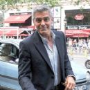 George Clooney out greeting fans in Paris (July 16)