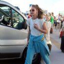 Gigi Hadid – Arriving for sister Alana Hadid's birthday celebrations in Mykonos
