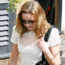 Charlotte Church Arrives At A TV Studio In London, England, 10 April 2010