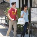 Selena Gomez and actor David Henrie out on a lunch date at Kabuki in Hollywood, California on June 8, 2013