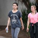 Miranda Cosgrove – Make up free with a friend in Los Angeles - 454 x 652