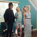 'Walking Dead' Star Emily Kinney is the new face for Nikki Rich spring 2015, seen here on the set with Designers Nikki Lund and Bon Jovi musician Richie Sambora on October 10, 2014. Kinney stars as Beth Greene in the hit series now in its fifth season