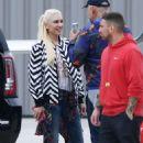 Gwen Stefani at Van Nuys Airport in Los Angeles