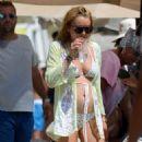 Lindsay Lohan – Changing From a Swimsuit to a Bikini – Mykonos, Greece 8/31/2016