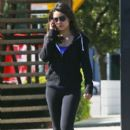 Mila Kunis: leaving a Pilates class in Sherman Oaks