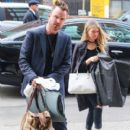Aaron Paul and his wife Lauren Parsekian are seen arriving at The Bowery Hotel in New York City, New York on March 31, 2016 - 400 x 600