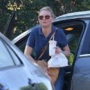 Kirsten Dunst grabs some lunch while she was out and about in Los Angeles, California on October 14, 2016. She looked very eager to eat her In and Out - 454 x 572