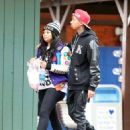 Blac Chyna and Tyga Attend Kendall Jenner's 18th Birthday Bash at Magic Mountain in Valencia, California - October 29, 2013 - 454 x 576