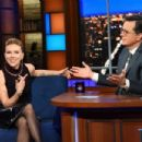 Scarlett Johansson – On The Late Show with Stephen Colbert in NYC