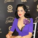 Dita Von Teese poses at the Von Follies by Dita Von Teese for Target photo call on March 9, 2012 in Melbourne, Australia