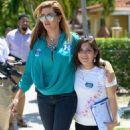 Alicia Machado Campaigns For Hillary Clinton - 454 x 523