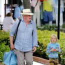 Nick Nolte sprays the paparazzi with a toy water gun while shopping with his daughter Sophie in Malibu - 396 x 594