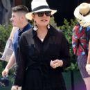Kris Jenner in Black Dress on holiday on Portofino - 454 x 716