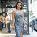 Jada Pinkett Smith heading to 'The Tonight Show Starring Jimmy Fallon' in NYC - 454 x 681