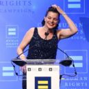 Actress Pauley Perrette speaks to the audience at the 'Human Rights Campaign 2016 Los Angeles Gala' held at the JW Marriott Los Angeles at L.A. LIVE on March 19, 2016 in Los Angeles, California - 414 x 600